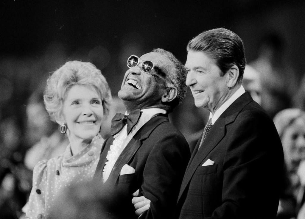 Ray Charles, Ronald & Nancy Reagan