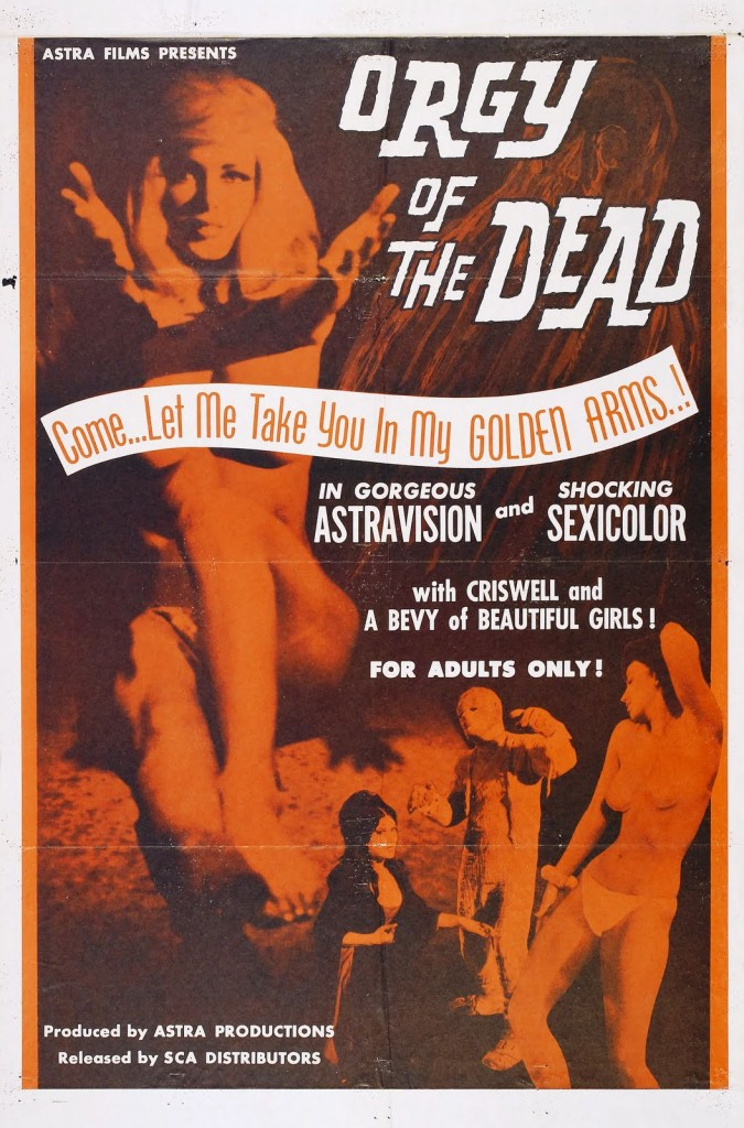 """Orgy of dead"" poster"