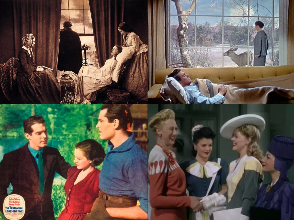 """Фотография: Хенри Пийч Робинсън """"Fading Away"""" 1858, All That Heaven Allows 1955, The Trail of the Lonesome Pine 1936, The Gang's All Here 1943"""
