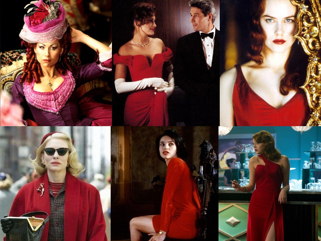 The Phantom of the Opera 2004, Pretty Woman 1990, Moulin Rouge! 2001, Carol 2015, Betty Blue 1986, Gangster Squad 2013