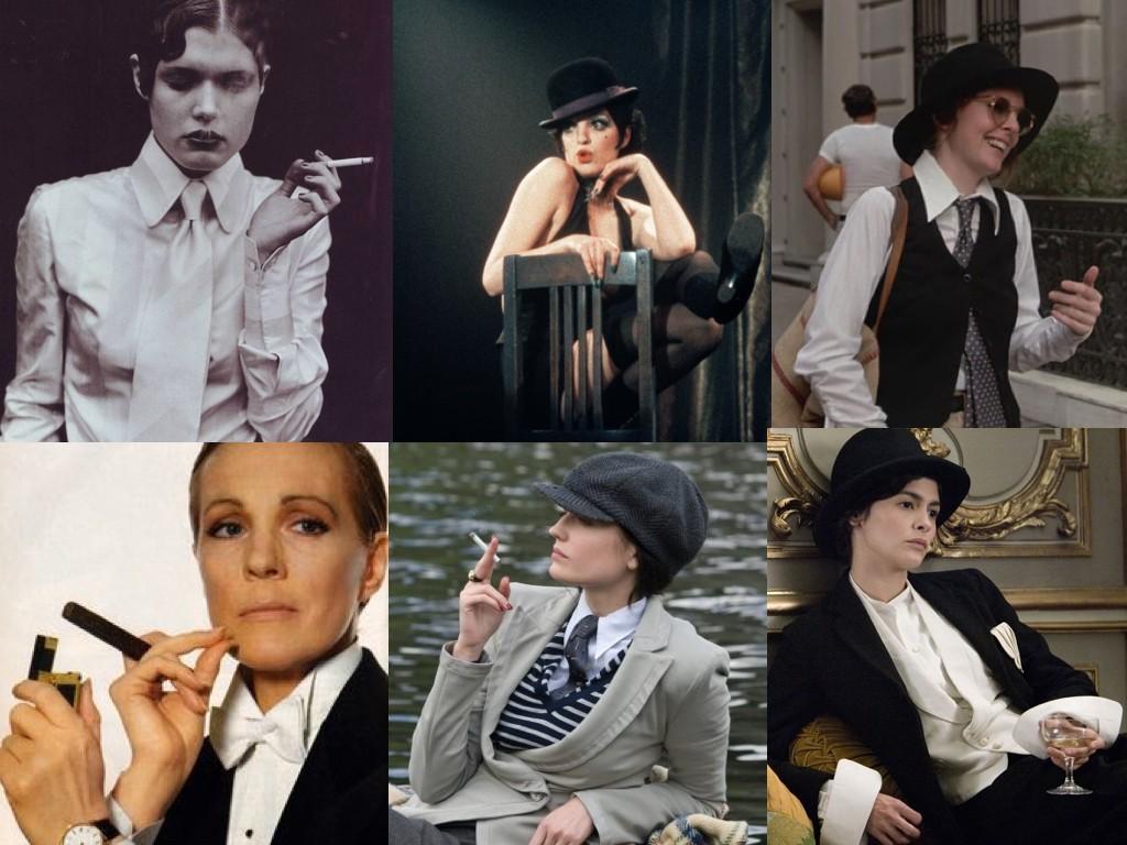 Фото: Никола Дюфране – Жена с цигара, Cabaret 1972, Annie Hall 1977, Victor Victoria 1982, Cracks 2009, Coco Before Chanel 2009