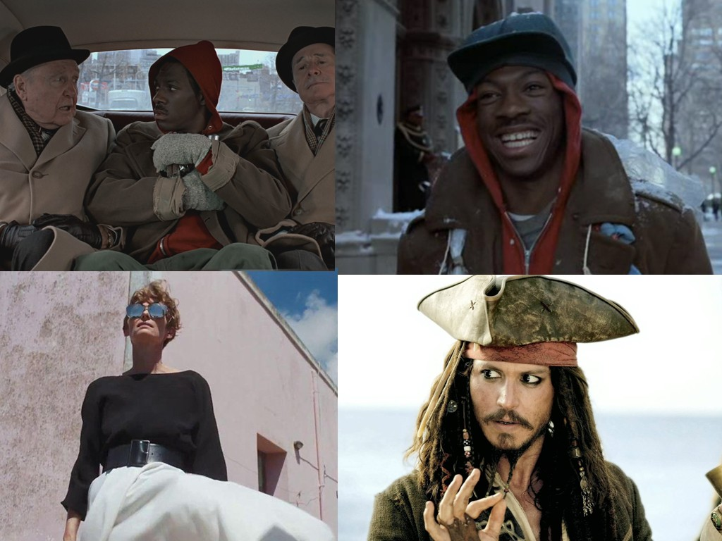 Trading Places 1983, A Bigger Splash 2015, Pirates of the Caribbean 2003