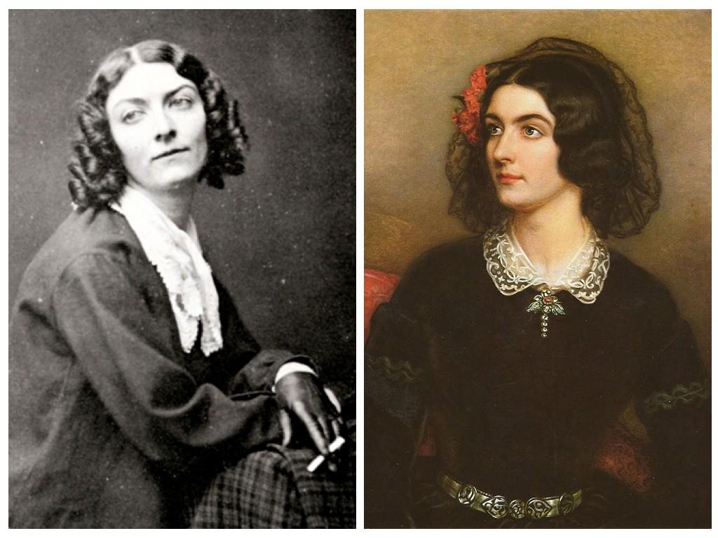Фото: Лола Монтес / Портрет: Лола Монтес 1847, художник Йозеф Карл Штилер