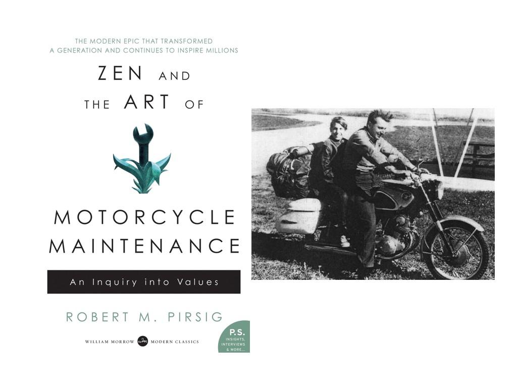 Робърт М. Пърсиг на мотоциклет