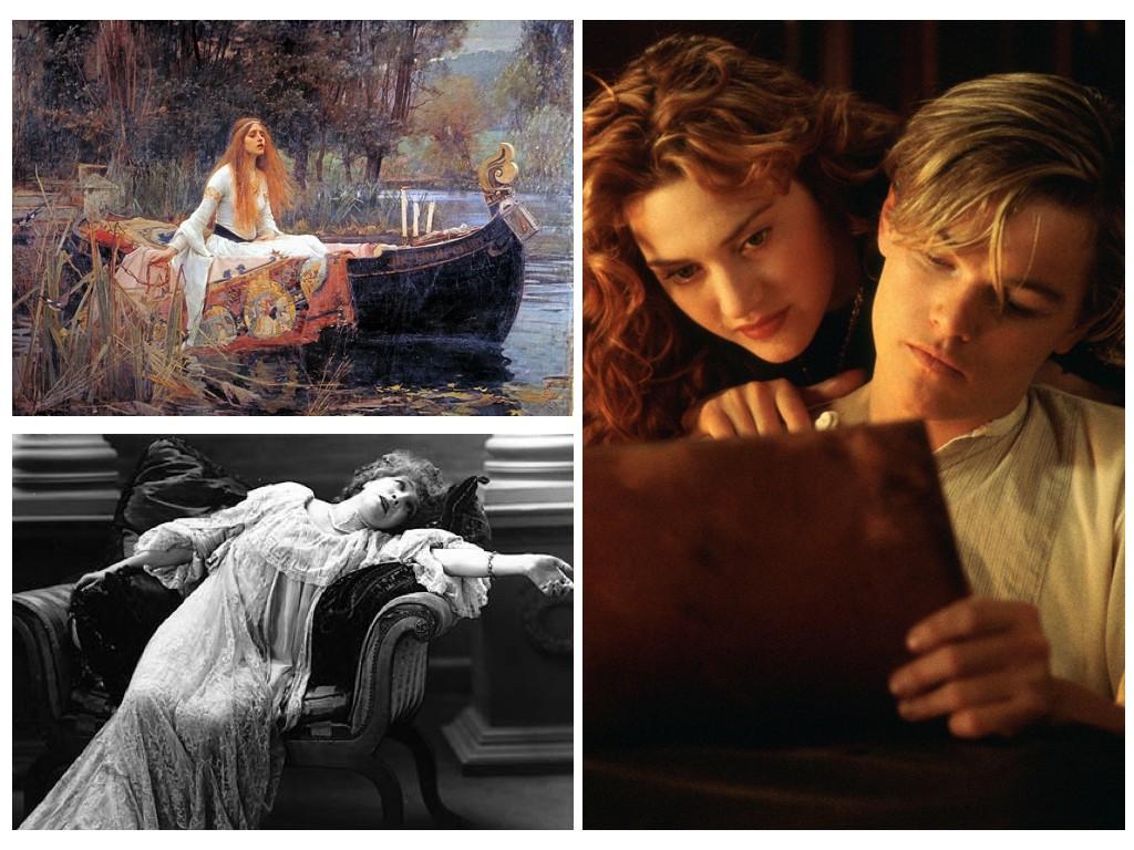 """Джон Уилям Уотърхаус """"The Lady of Shalott"""", 1888, Хистеричен припадък, Titanic 1997"""
