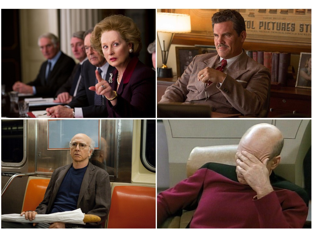 The Iron Lady 2011, Hail, Caesar! 2016, Curb Your Enthusiasm 2000-, Star Trek: The Next Generation 1987-1994