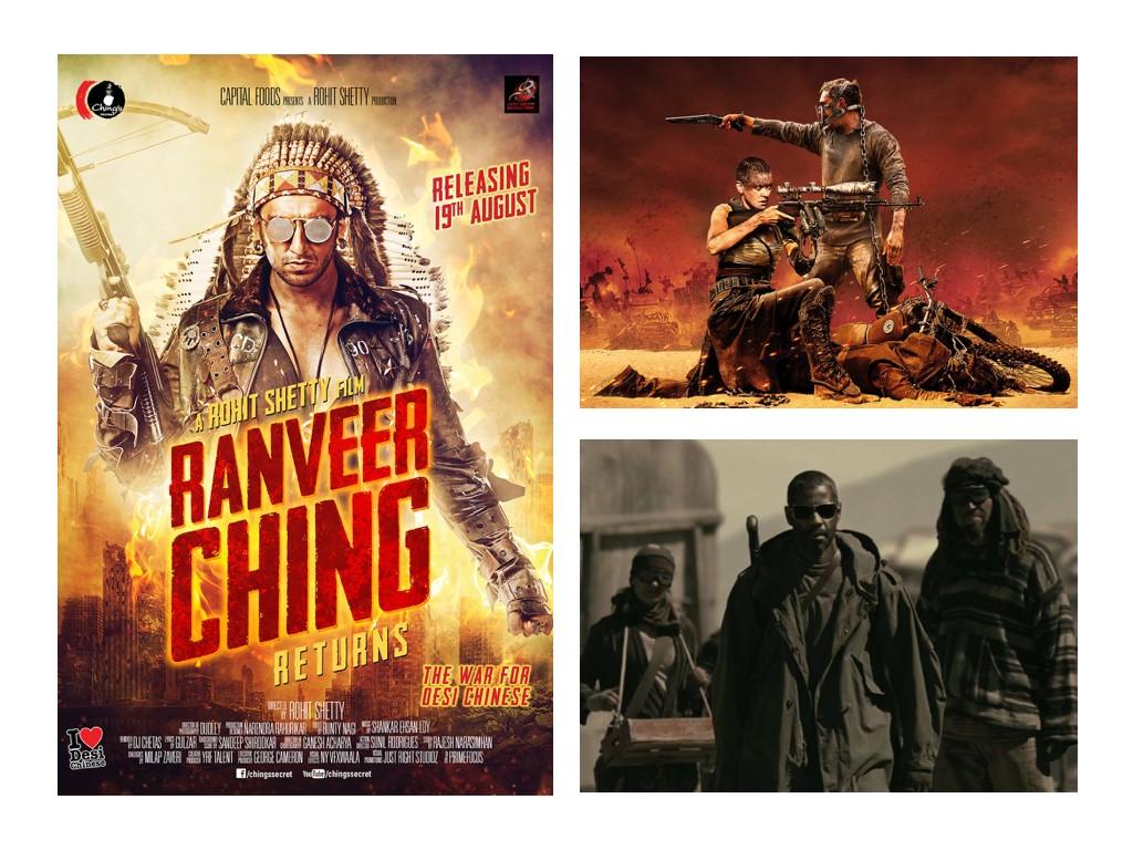 Ranveer Ching Returns 2016 - индийски римейк на Лудия Макс, Mad Max: Fury Road 2015, The Book of Eli 2010