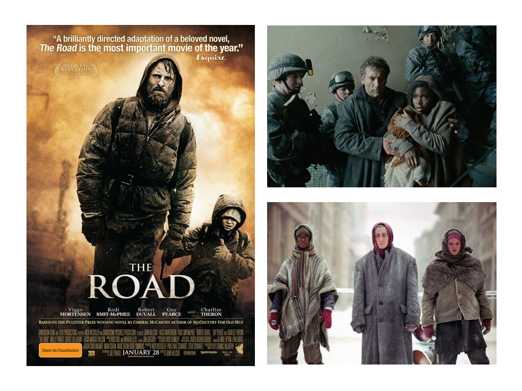 The Road 2009, Children of Men 2006, The Day After Tomorrow 2004