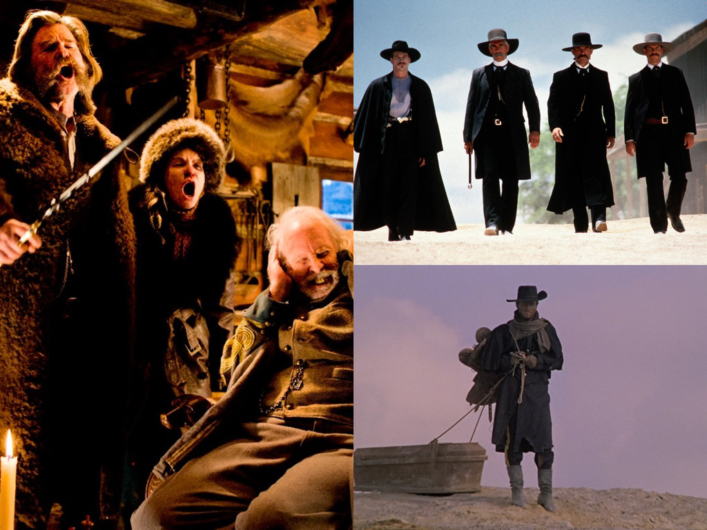 The Hateful Eight 2015, Tombstone 1993, Django 1966