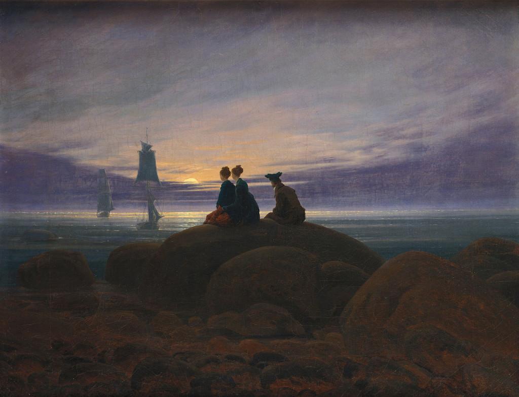 Луната изгрява над морето (1822) – Каспар Давид Фридрих