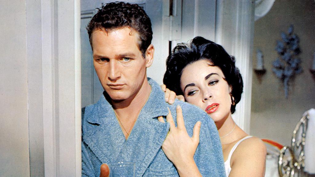 Cat On A Hot Tin Roof 1958 (Котка върху горещ ламаринен покрив) – Пол Нюман и Елизабет Тейлър създават един от златните модели за отровна семейна връзка.