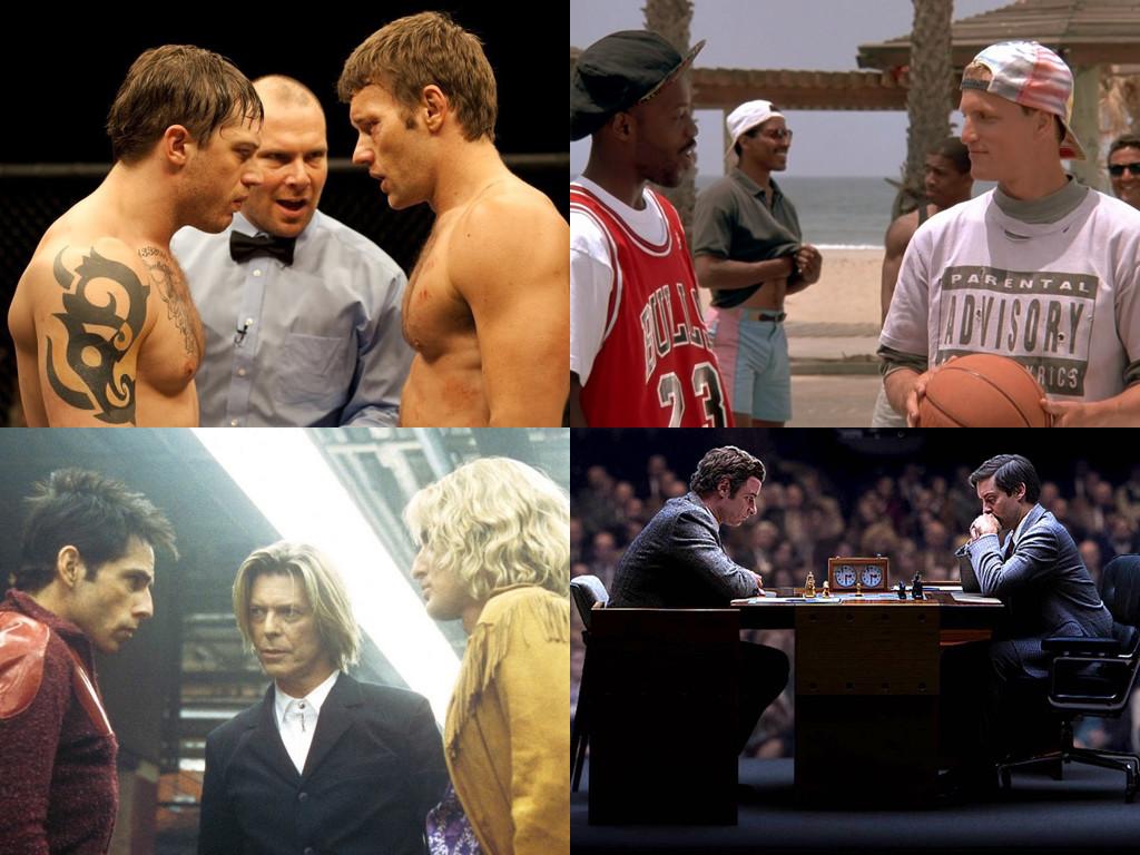 Warrior 2011, White Men Can't Jump 1992, Zoolander 2001, Pawn Sacrifice 2014