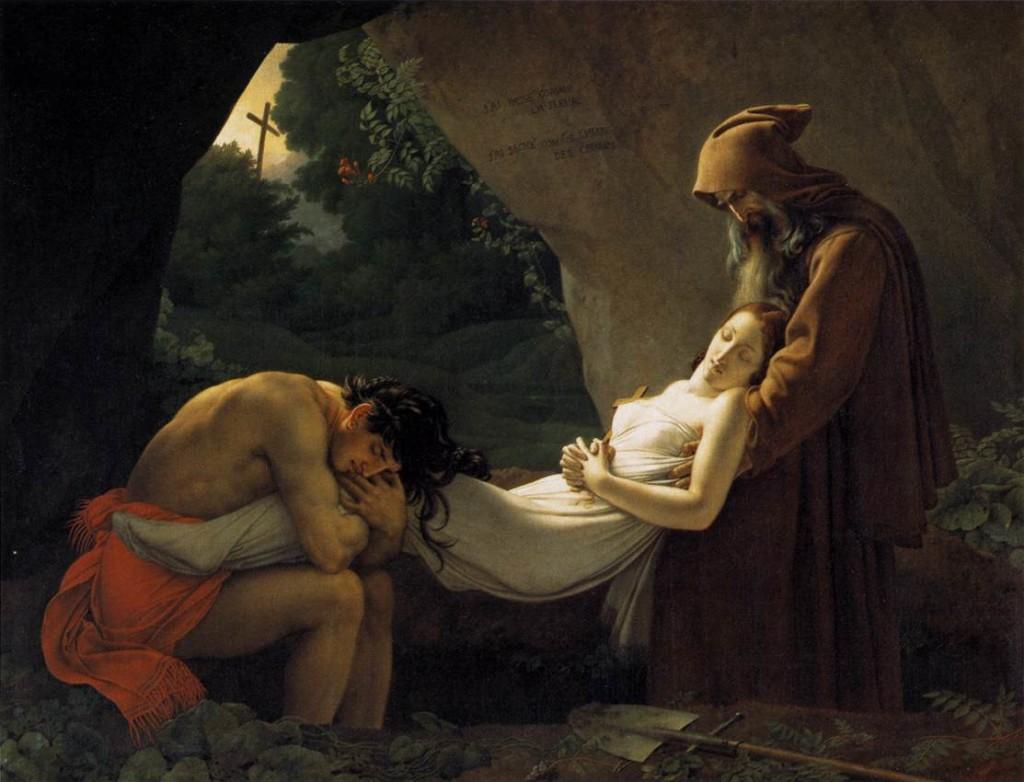 Погребението на Атала (1808) – Ан-Луи Жироде де Руси-Триозон