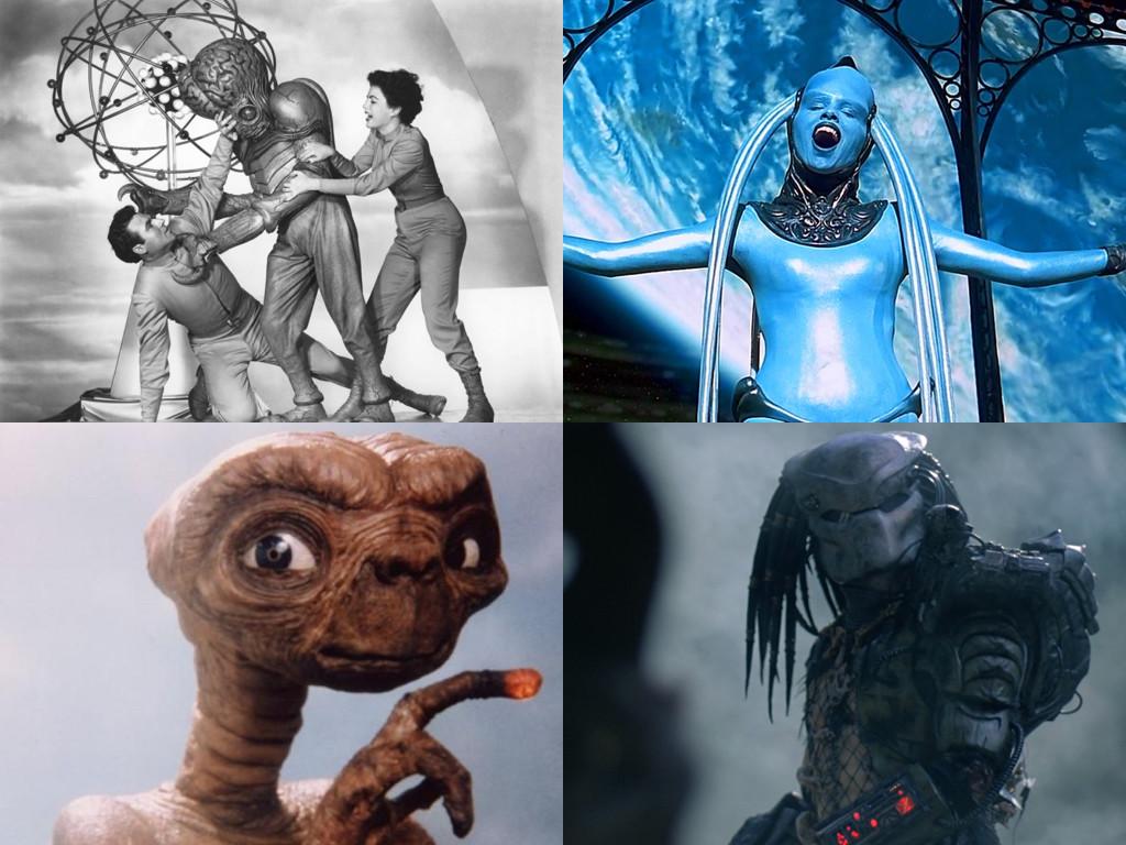 This Island Earth 1955, The Fifth Element 1997, E.T. 1982, Predator 1987