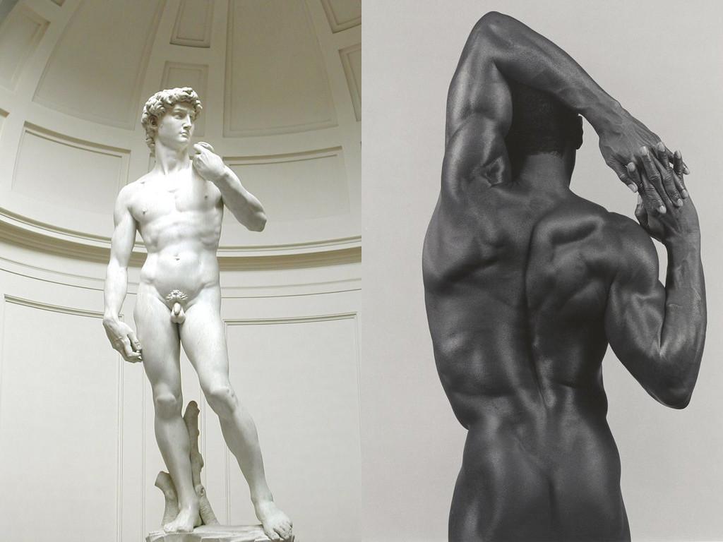 """Микеланджело - """"Давид"""", 1504 / Робърт Мейпълторп """"Дерек Крос"""", 1983"""