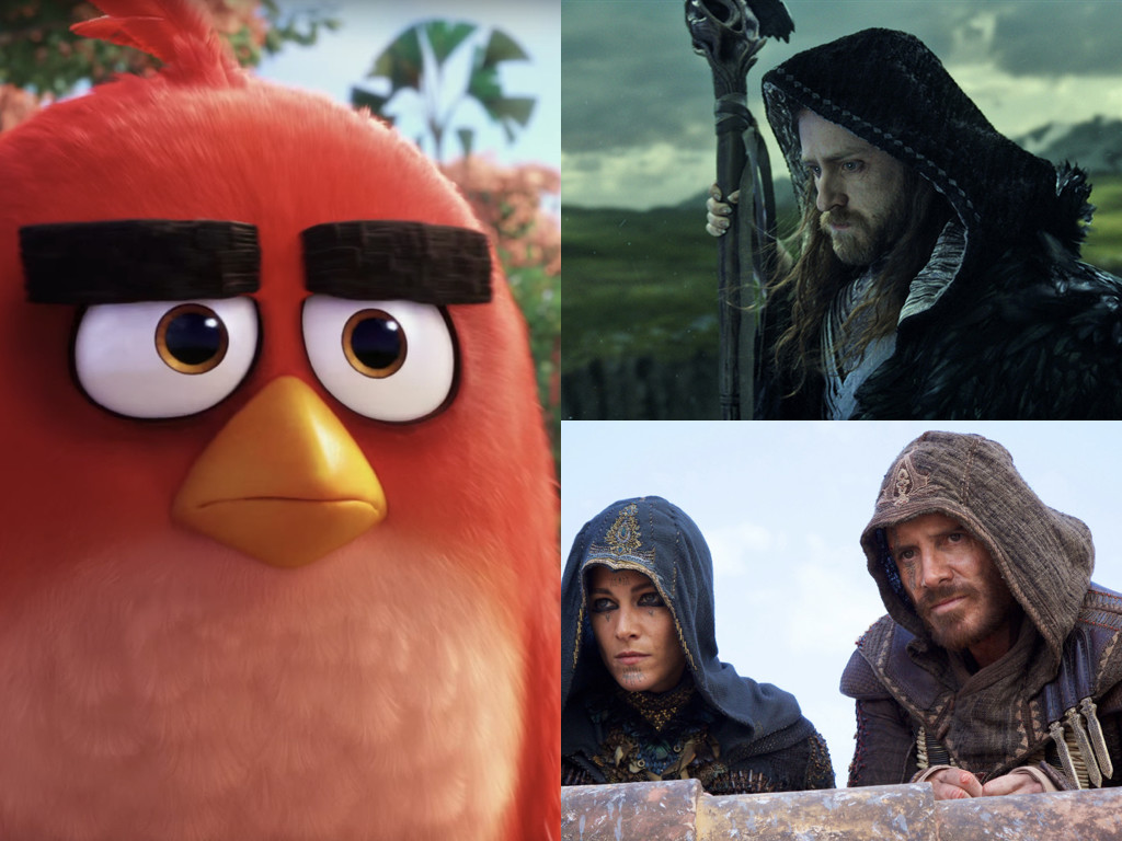 The Angry Birds Movie 2016 / Warcraft 2016 / Assassin's Creed 2016