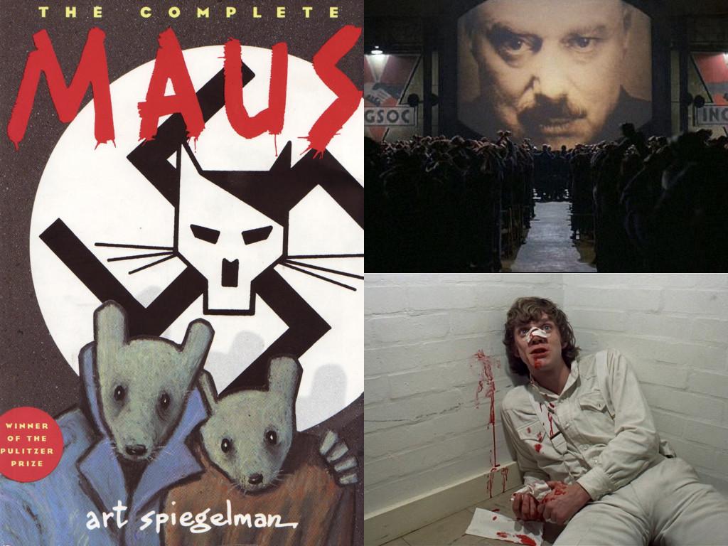 Maus – комиксът на Арт Шпигелман, е антинацистка алегория разказана чрез мишки и котки / Nineteen Eighty-Four 1984 / A Clockwork Orange 1971