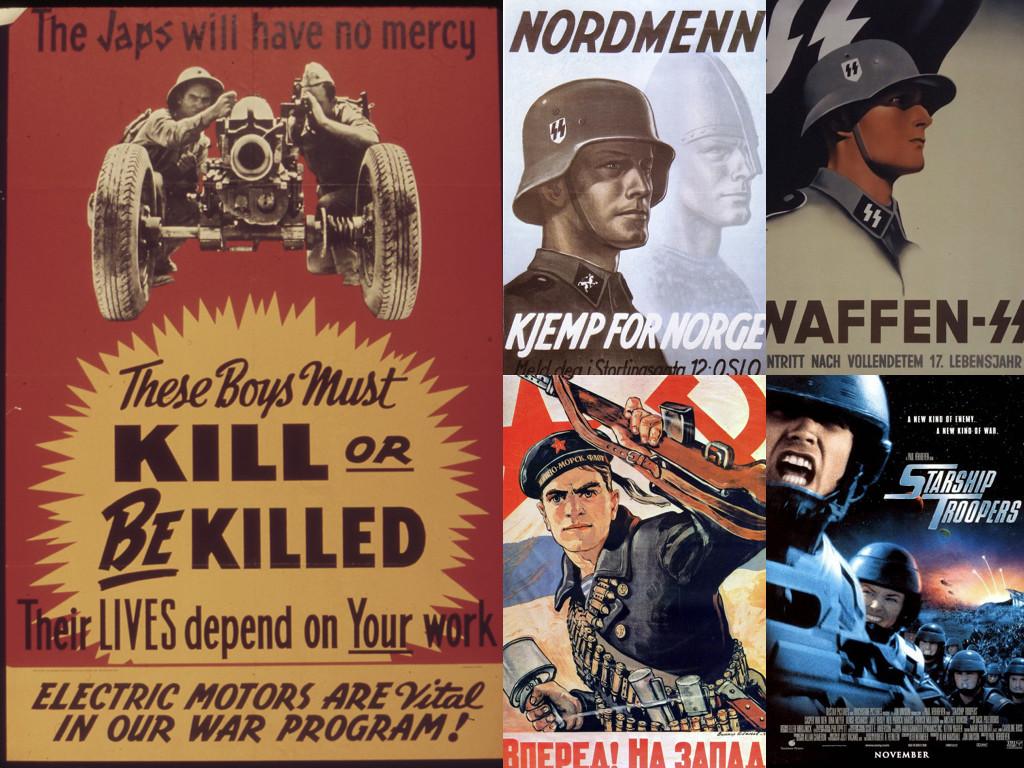 Пропагандни плакати от Втората световна война / Starship Troopers 1997 плакат
