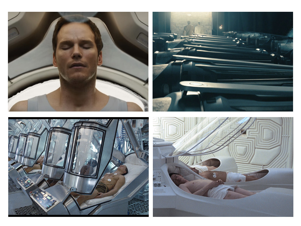 Passengers 2016 / Star Trek Into Darkness 2013 / Aliens 1986 / Alien 1979