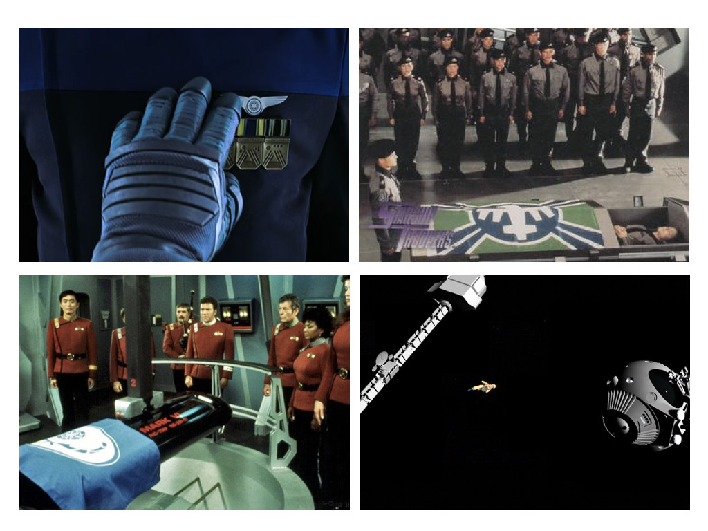 Passengers 2016 / Starship Troopers 1997 / Space Star Trek II: The Wrath of Khan 1982 / 2001: A Space Odyssey 1968