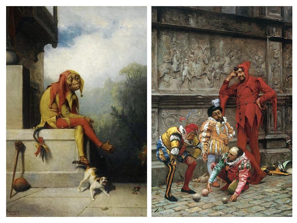 Шутът - Уилям Холбрук Баард, 1886 / Играещи шутове – Едуардо Забала, 1868