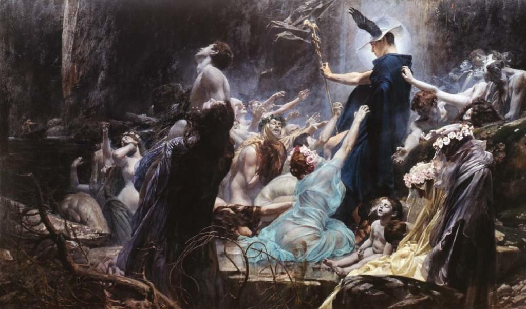 Душите на брега на Ахерон – Адолф Хиршел, 1898