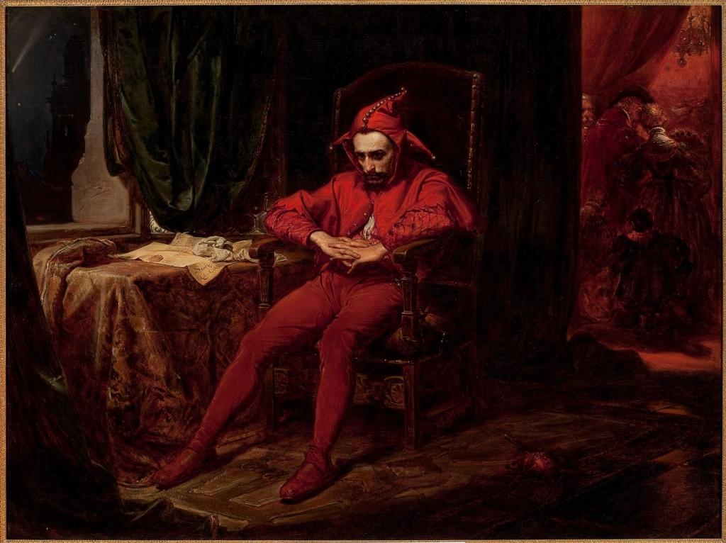 Станчик – Ян Матейко, 1862 – дворцовият шут е единственият, който е угрижен, след новината за превземането на Смоленск от руснаците през 1514