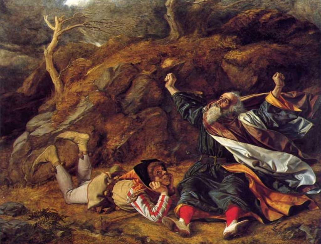 Крал Лир и Шута в бурята – Уилям Дайс, около 1851