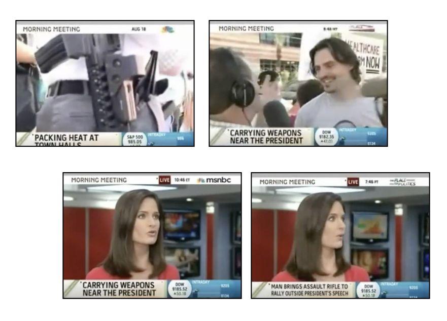 Мъжът с пушката - MSNBC кадри от репортажа с