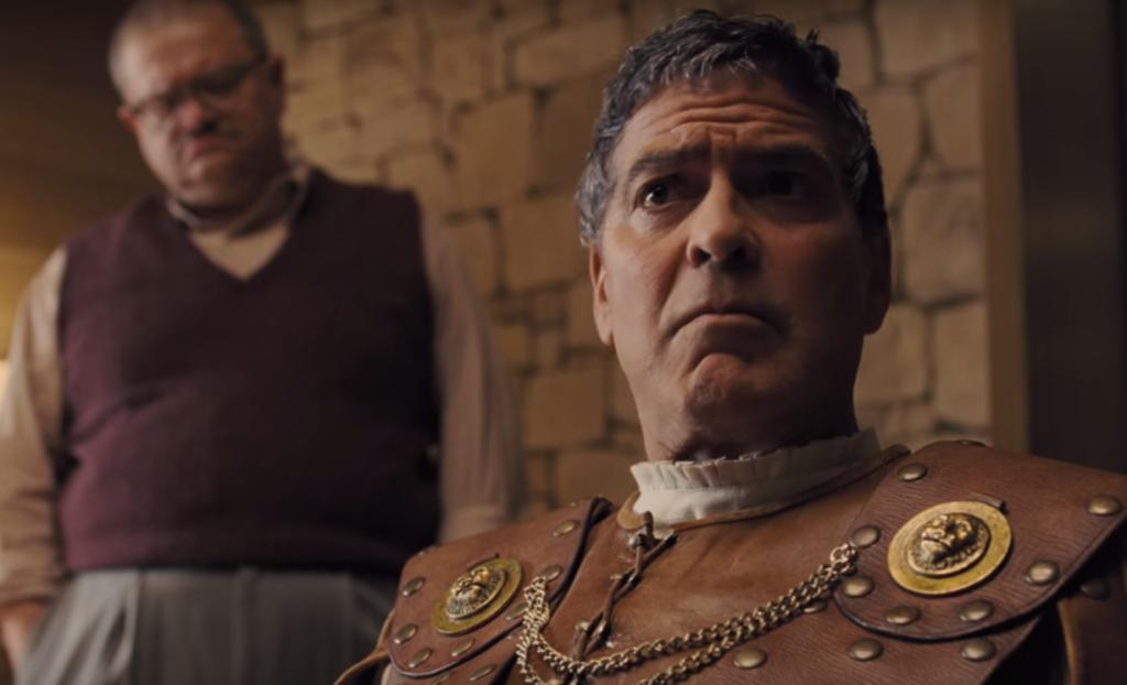 Hail, Caesar! 2016 Джордж Клуни в ролята на глупавия актьор – двойна ирония от братята Коен