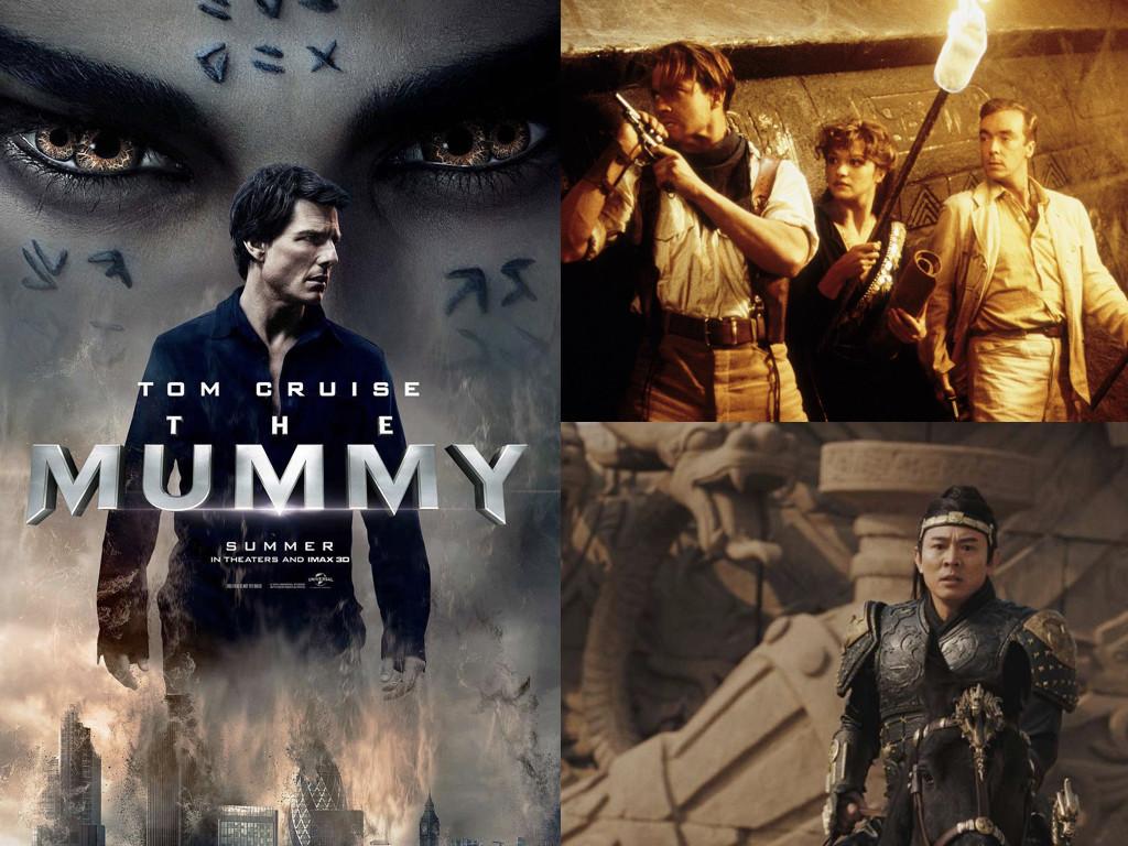 The Mummy 2017, The Mummy 1999, The Mummy: Tomb of the Dragon Emperor 2008