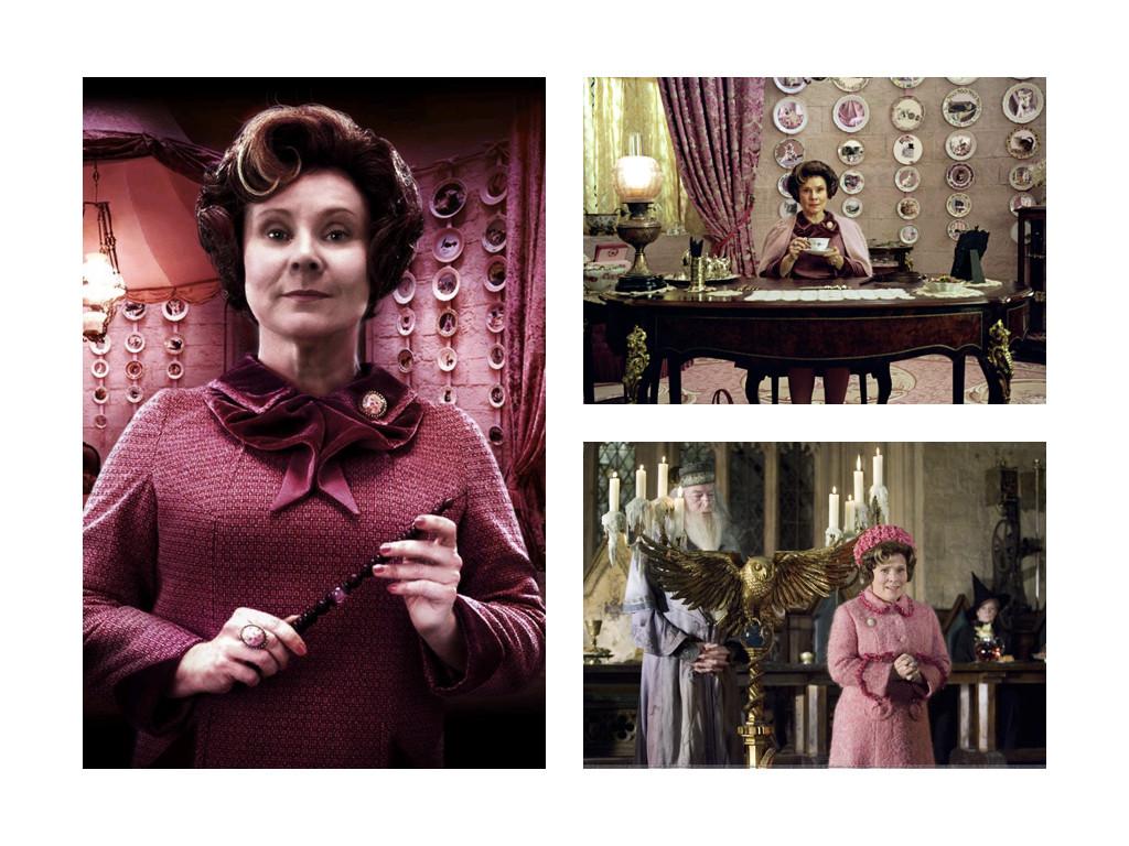 """Долорес Ъмбридж, героиня от серията книги и филми """"Хари Потър"""". Заместник-министър от Министерството на магията, цензор и главен инквизитор в """"Хогуортс""""."""