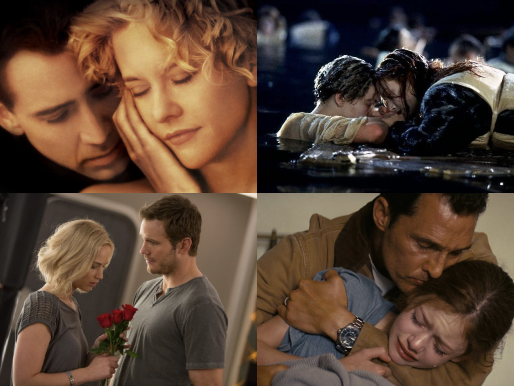 City of Angels 1998 / Titanic 1997 / Passengers 2016 / Interstellar 2014