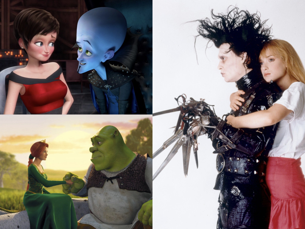 Megamind 2010 / Shrek 2001 / Edward Scissorhands 1990