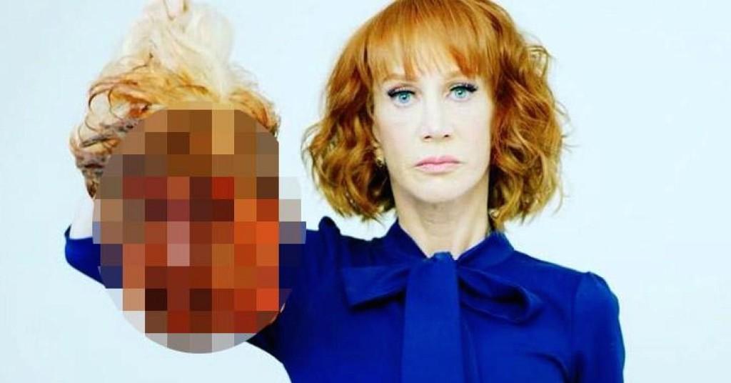 Комикът Кати Грифин с отрязаната глава на Доналд Тръмп