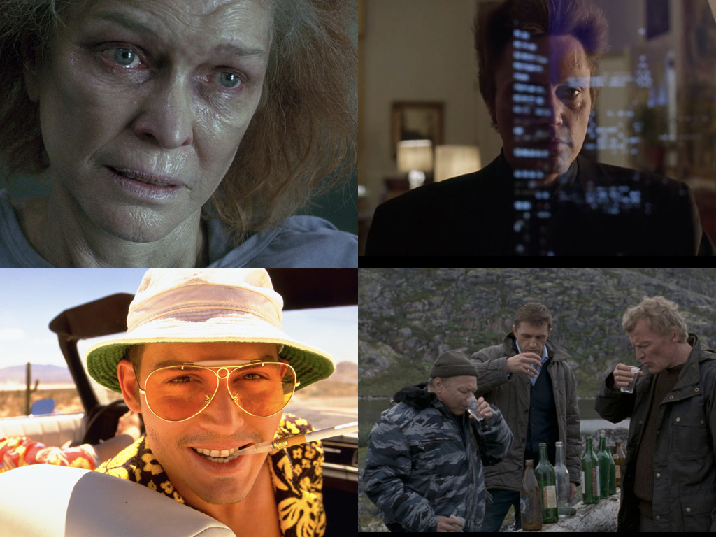 Requiem For a Dream 2000 / King of New York 1990 / Fear and Loathing in Las Vegas 1998 / Leviathan 2014