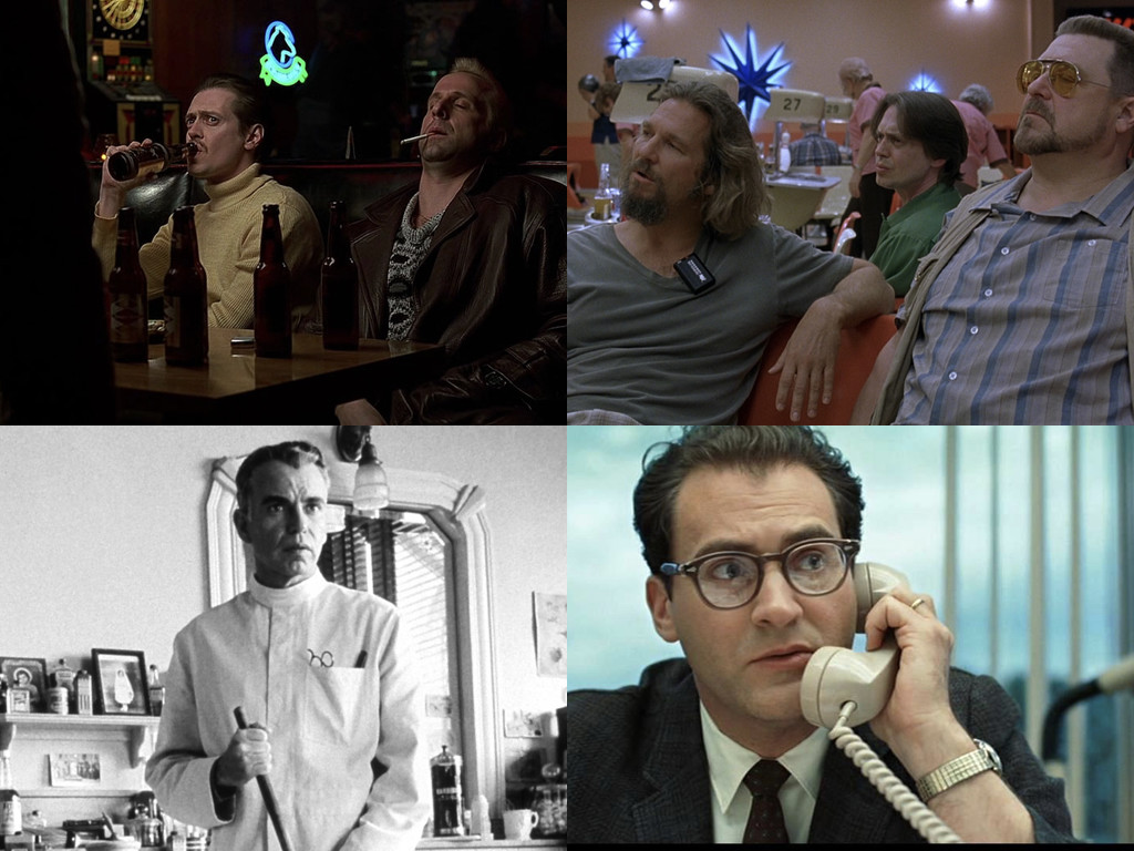 Fargo 1996 / The Big Lebowski 1998 / The Man Who Wasn't There 2001 / A Serious Man 2009