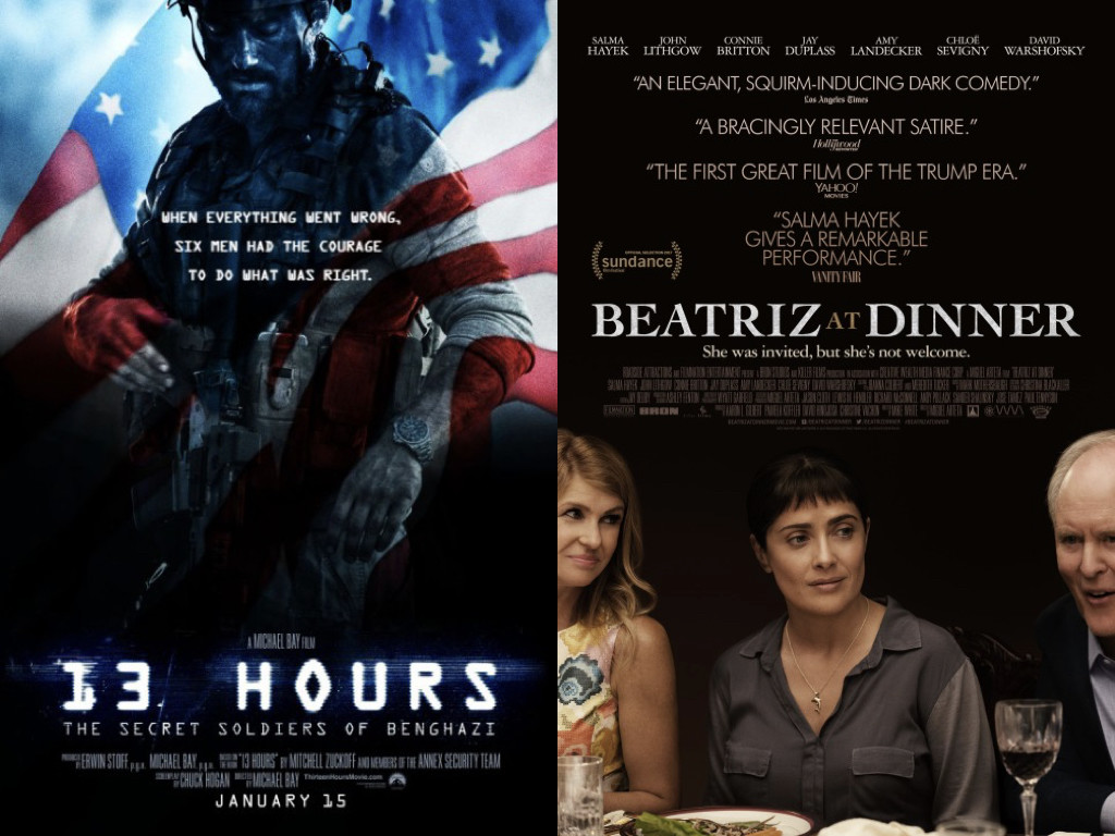 13 Hours 2016 / Beatriz at Dinner 2017