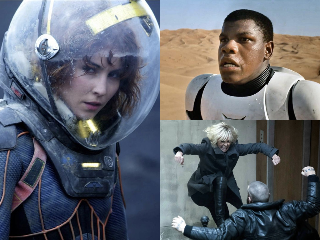 Prometheus 2012 / Star Wars: The Force Awakens 2015 / Atomic Blonde 2017