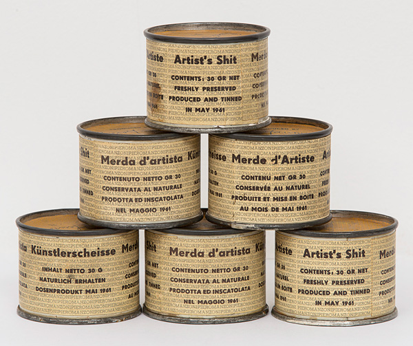 Лайната на артиста 1961 – консерви с фекалии на италианският артист Пиеро Манзони