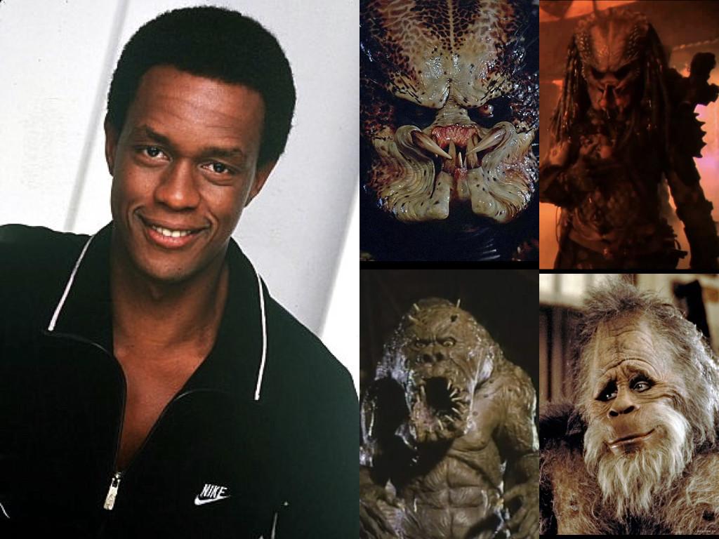 Като Хищника в Predator 1987 и Predator 2 1990 / като чудовище в Monster in the Closet 1986 / като Голямата стъпка Хари в Harry and the Hendersons 1987