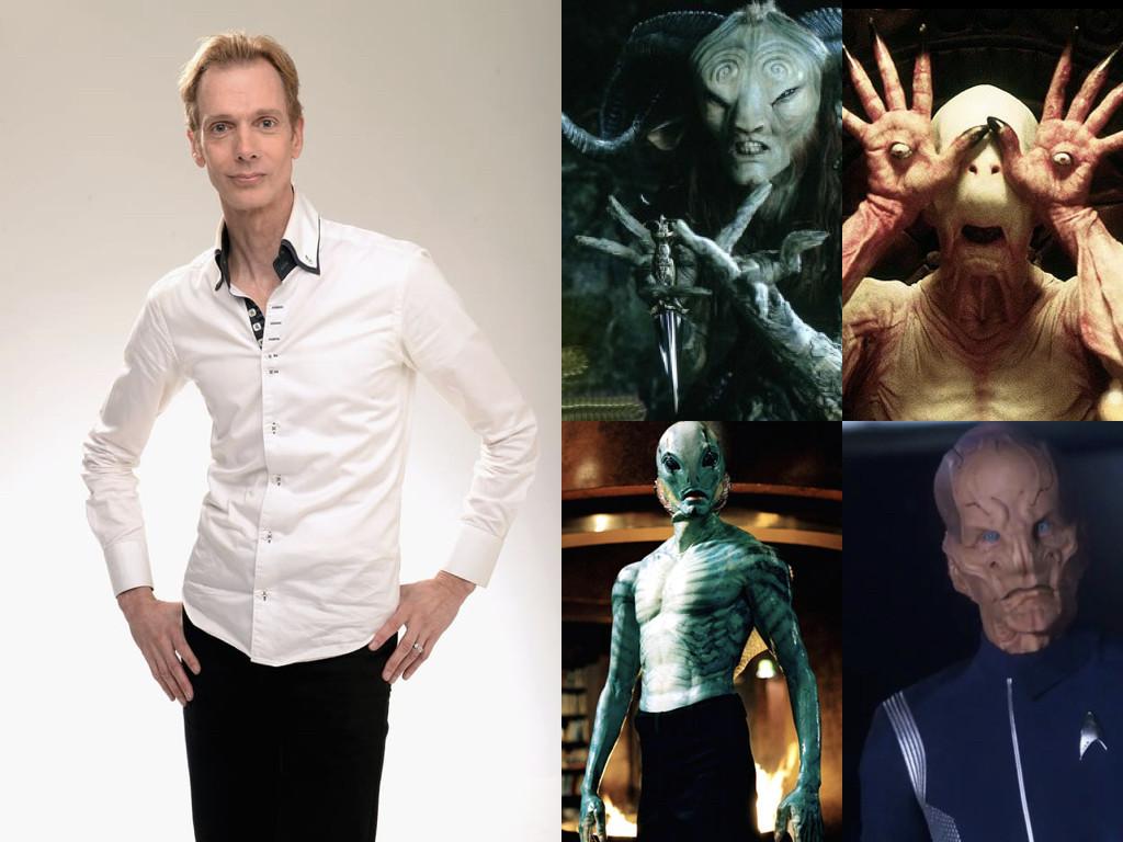 Като Фавна и Бледия човек в Pan's Labyrinth 2006 / като Ейб Сапиен в Hellboy 2004 / Като лейтенант Сару в Star Trek: Discovery 2017
