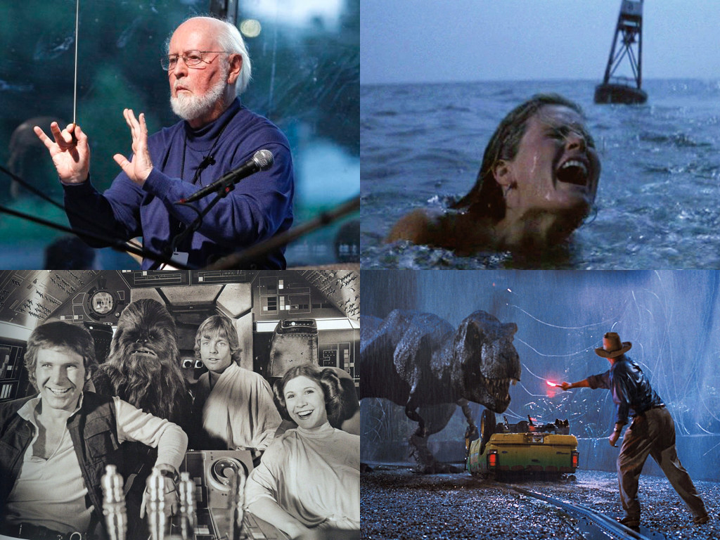 Джон Уилямс е композитор на Jaws 1975 / Star Wars 1977 / Jurassic Park 1993