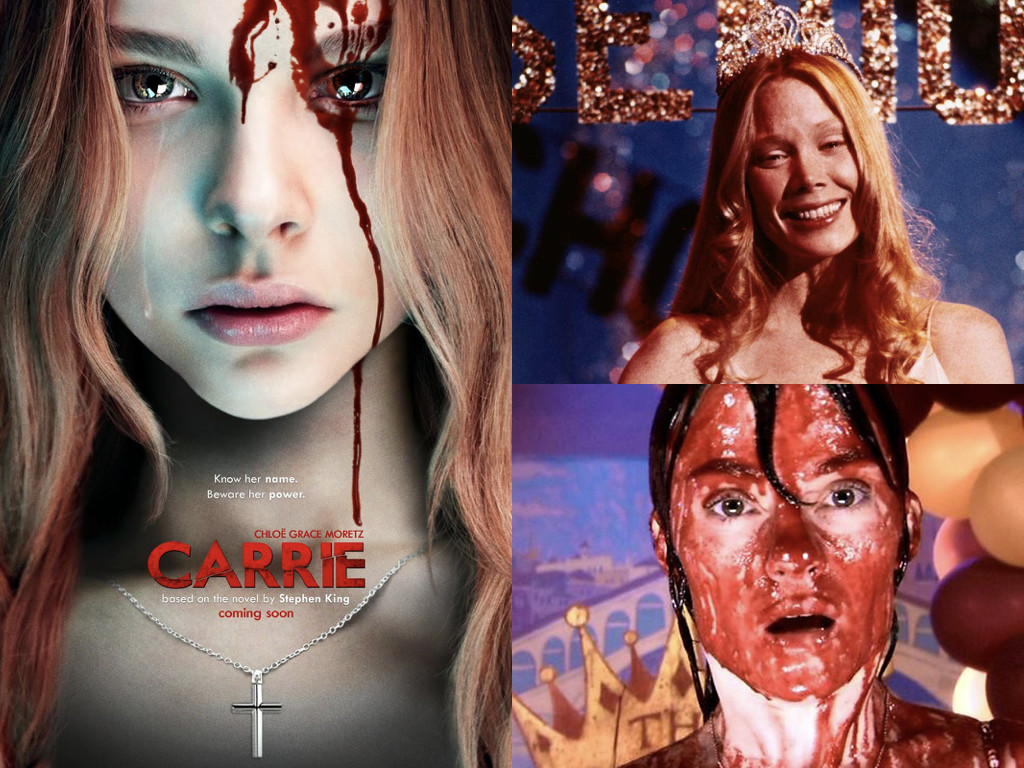 Carrie 2013 – постер / Carrie 1976 / Carrie 2002