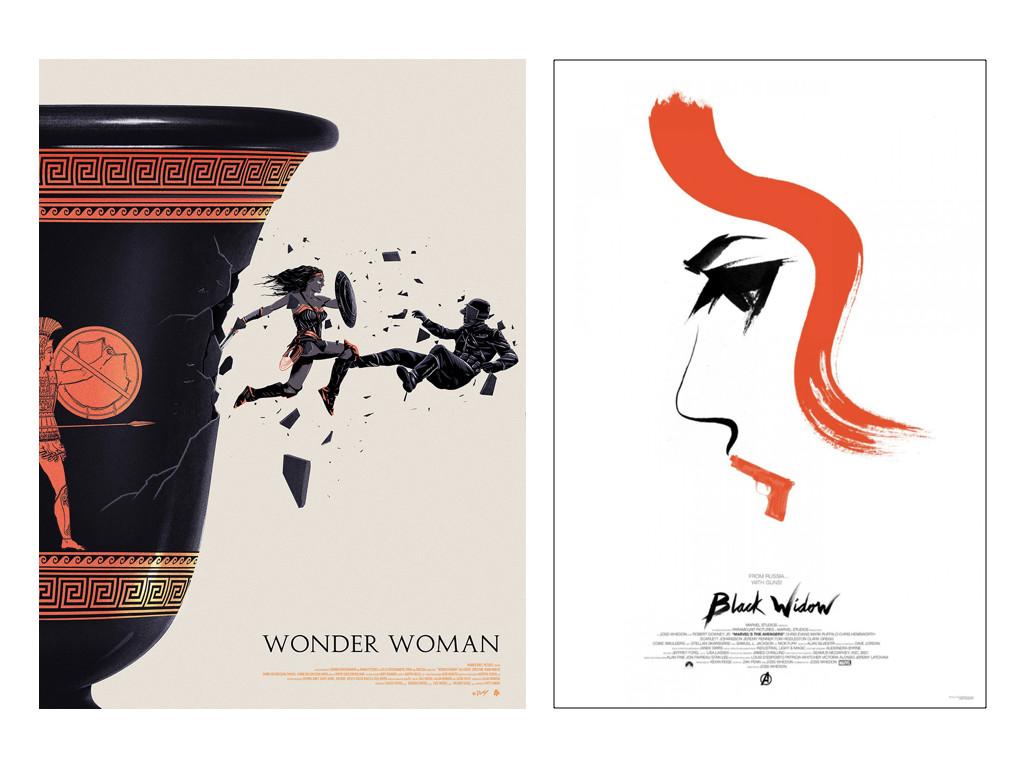 Алтернативни и fan art постери: Wonder Woman на Doaly