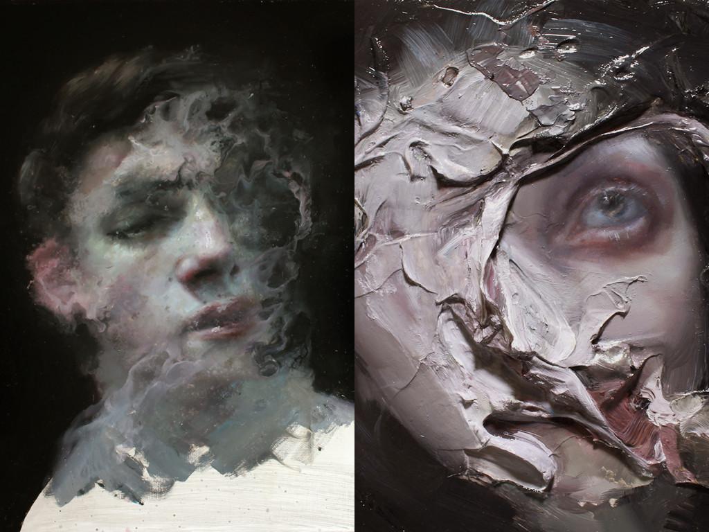 Картини на Хенрик Аарещад Улдален, основна тема за художника е нихилизма