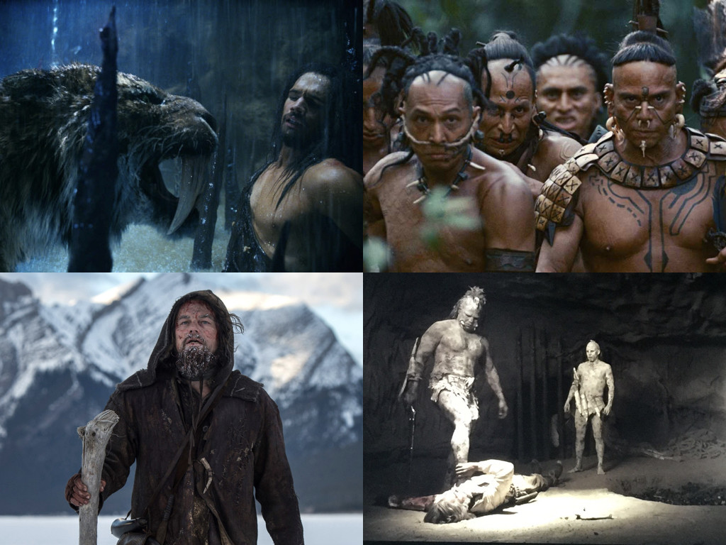 10,000 BC 2008 / Apocalypto 2006 / The Revenant 2015 / Bone Tomahawk 2015