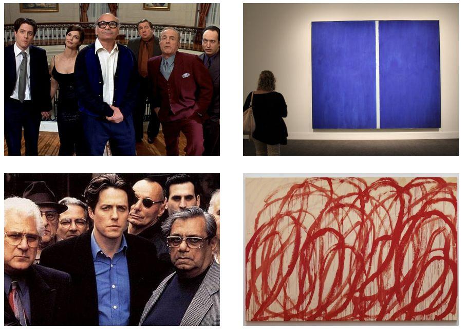 Mickey Blue Eyes 1999 / В реалността синята картина е продадена за $43,8 милиона, а червените драсканици за $46,4 милиона