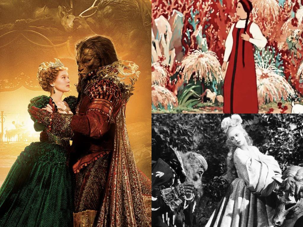 La Belle et la Bete 2014 / Аленький цветочек 1952 / La Belle et la Bete 1946