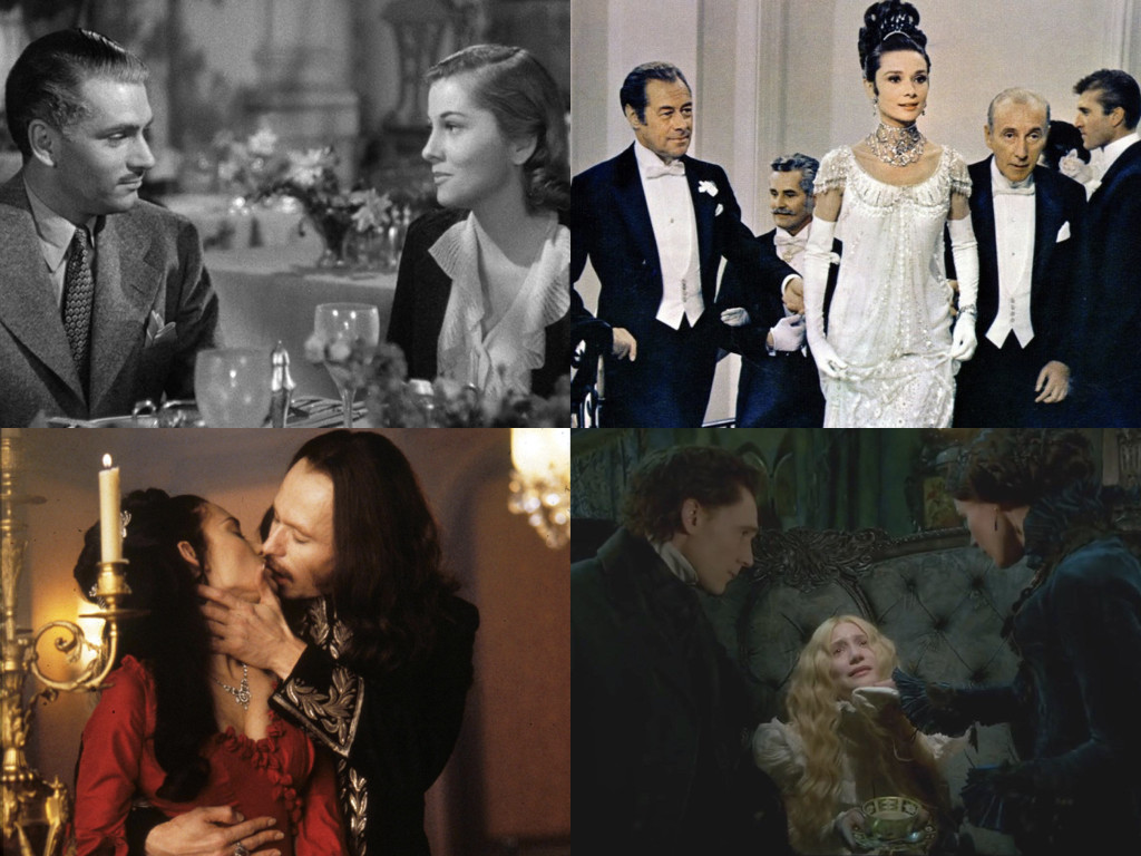 Rebecca 1940 / My Fair Lady 1964 / Bram Stoker's Dracula 1992 / Crimson Peak 2015